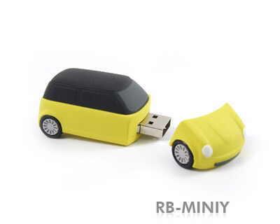 stick usb masina Mini din cauciuc